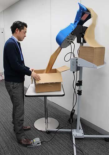 PALTEK 紙緩衝材で地球に優しい梱包用緩衝材システム