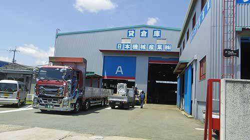 日本機械産業 保管期間は半月契約から、天井クレーン付「シェア倉庫」