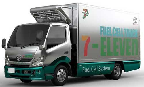 セブンイレブンとトヨタ 来春に燃料電池トラック2台導入