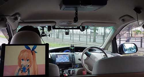 ITSフォーラムで自動運転の試乗会 運転席無人で走行
