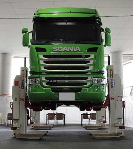 タフコートジャパン 車両保護に活用を「トラック用リフト」