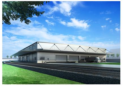 新日鉄住金エンジニアリング 名古屋市港区でJR東海向け倉庫に着工