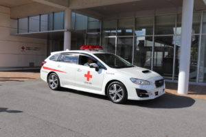 全国赤帽が血液製剤搬送に貢献、車両1台寄贈