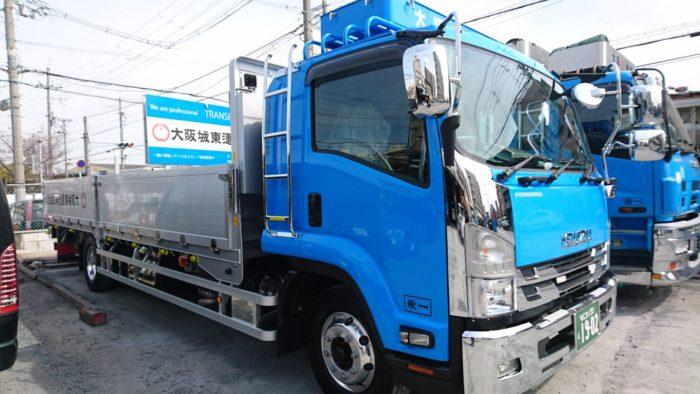 大阪城東運送 8トン増トン平車を導入