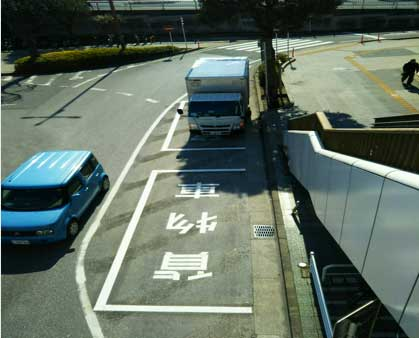 幕張本郷駅前ロータリーに貨物専用駐車スペース