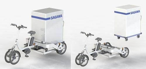 佐川急便など 電動アシスト自転車を開発