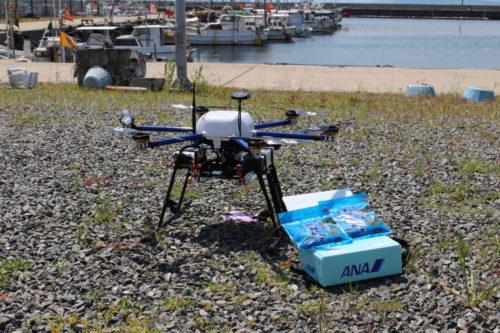 ANAHDなど3社 ドローン飛行実証実験、海上で初の目視外飛行