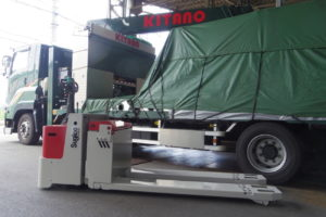キタノ 7トン電動ハンドリフトを導入、時間短縮と作業負担減少