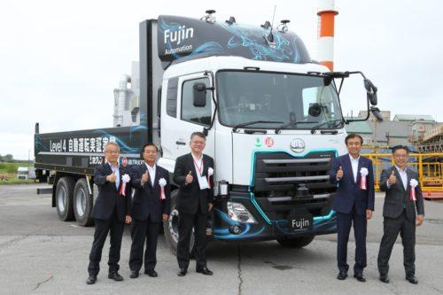 UDトラックスなど3社 大型車によるレベル4技術の自動運転実証実験