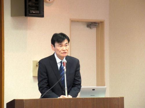久居運送 菅内社長 県に交通安全啓発品寄贈、津法人会で講演も