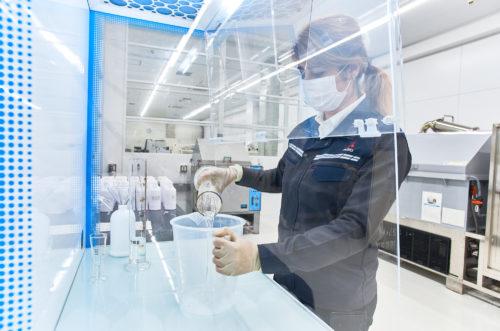 三菱ふそうトラック・バス 川崎地区の病院と市役所に消毒液を寄付