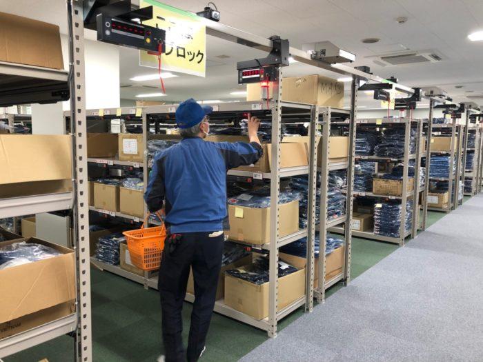 東電物流 ユニフォーム事業を開始 デジタルピッキングシステムを導入