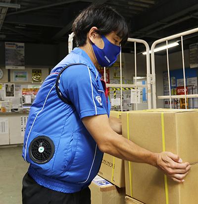 佐川急便 クールファンベストで熱中症予防、2800枚配布へ