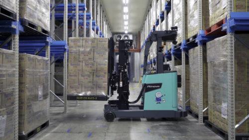 ニチレイロジと豊田自動織機 冷蔵冷凍自動フォークリフト実証実験を開始