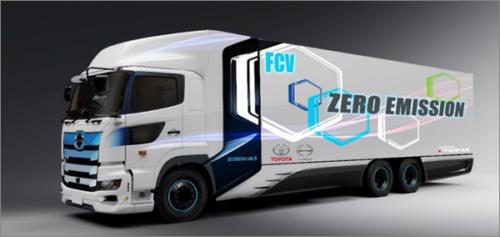 ヤマト運輸など6社 22年春ごろに燃料電池大型トラックの走行実証を開始