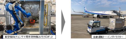 手荷物積み付けロボ開発 ANAと豊田自動織機が実証実験