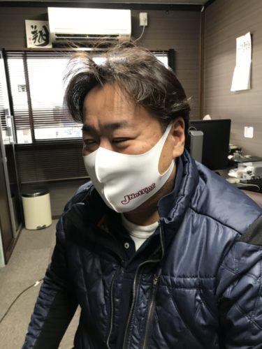 ジェイネットライン 感染予防で一致団結、オリジナルマスクを配布