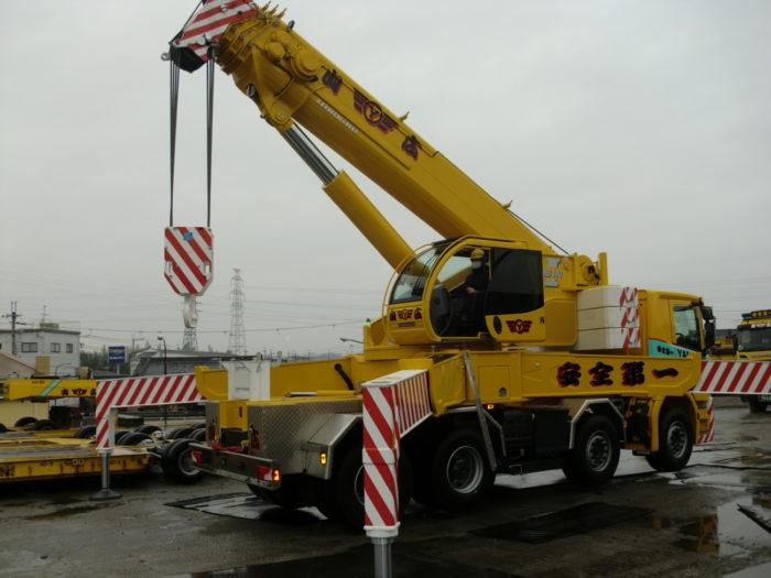 山広運輸興業 最大140トン 超大型吊上げクレーン車を日本で初導入