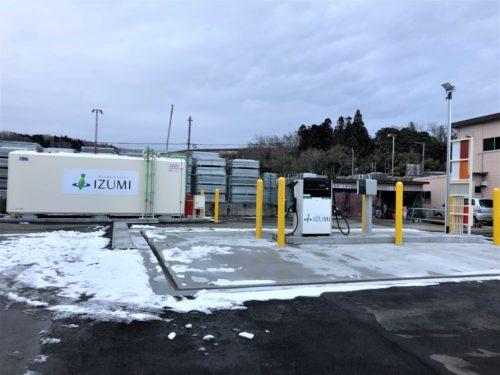 泉 BCP対策で地上型タンクの自家給油所新設
