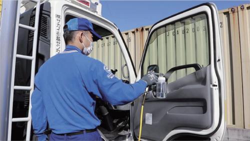 サカイ引越センター トラックに抗ウイルス・抗菌加工を実施