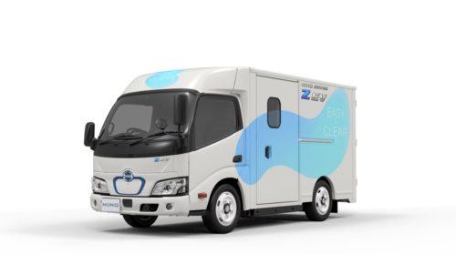 日野自動車 超低床・ウォークスルーの小型EVトラック開発