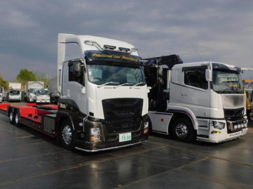 米川自工 セノプロ仕様の車両運搬車とクレーン付回送車を導入
