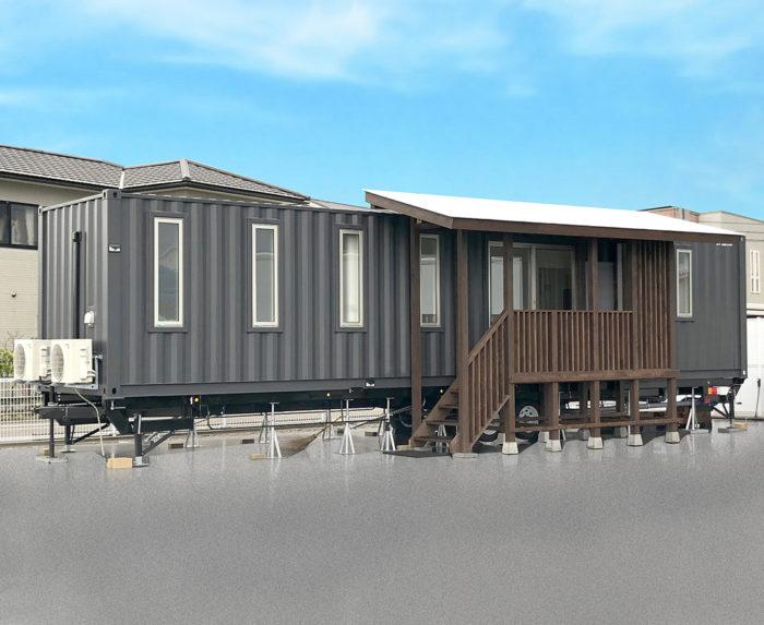 トレーラーハウスのランドピア 特許取得し12mの居室サイズを実現