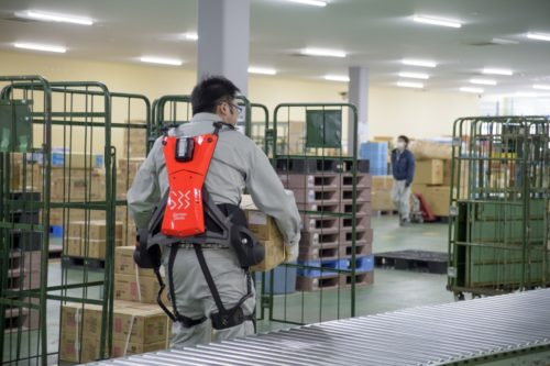 GBS パワースーツを日本企業に提案、共同物流サービスが導入