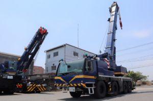 井上運輸機工 100トン吊りクレーン導入、通行許可取りやすく
