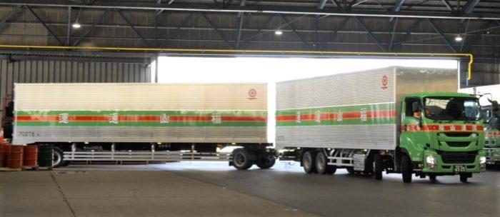 福山通運 25mのダブル連結トラック、4路線目の運行開始